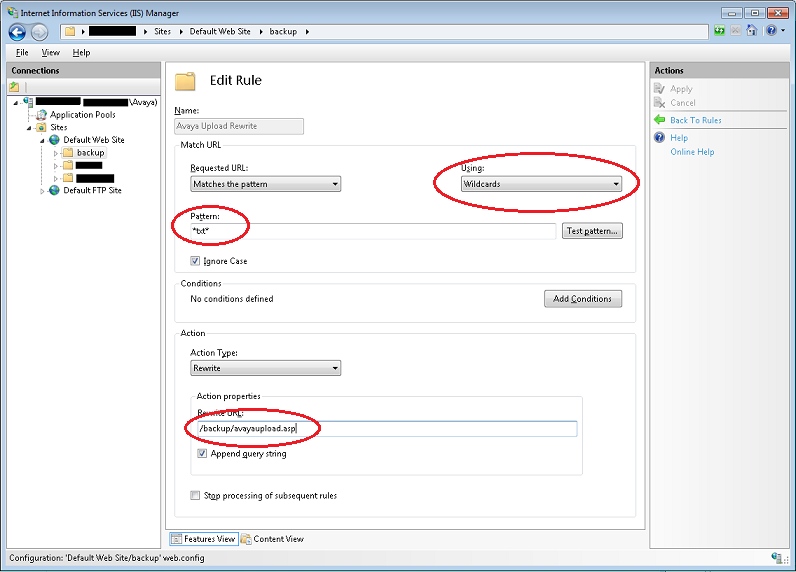 How to Backup/Restore Avaya to IIS7 5 – Roel Broersma