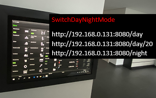 Switch-Day-Night-Mode of Tablet
